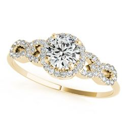 1.33 ctw Certified VS/SI Diamond Ring 18k Yellow Gold - REF-275G6W