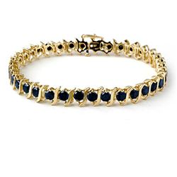 7.0 ctw VS Certified Black Diamond Bracelet 10k Yellow Gold - REF-160K9Y