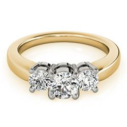 1.33 ctw VS/SI Diamond 3 Stone Ring 18k Yellow Gold - REF-197Y2X