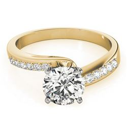 0.91 ctw Certified VS/SI Diamond Bypass Ring 18k Yellow Gold - REF-143Y2X