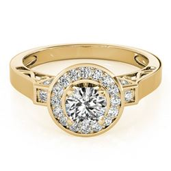 1.5 ctw Certified VS/SI Diamond Halo Ring 18k Yellow Gold - REF-295A9N