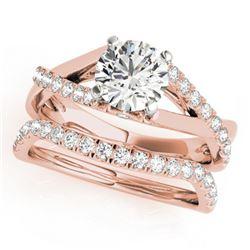 1.06 ctw Certified VS/SI Diamond 2pc Wedding Set 14k Rose Gold - REF-115N9F