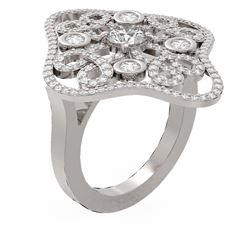 2.1 ctw Diamond Ring 18K White Gold - REF-229N2F