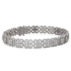 12 ctw Diamond Designer Bracelet 18K White Gold - REF-840G2W