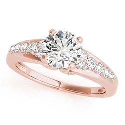 1.15 ctw Certified VS/SI Diamond Ring 18k Rose Gold - REF-156R2K