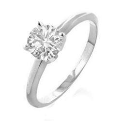 2.0 ctw Certified VS/SI Diamond Solitaire Ring 18k White Gold - REF-756R2K