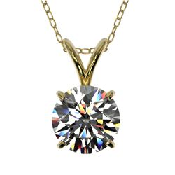 1.04 ctw Certified Quality Diamond Necklace 10k Yellow Gold - REF-141H3R