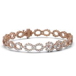7.5 ctw Pear Cut Diamond Designer Bracelet 18K Rose Gold - REF-619N5F