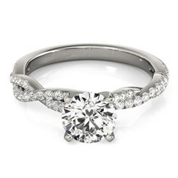 0.75 ctw Certified VS/SI Diamond Ring 18k White Gold - REF-99G5W
