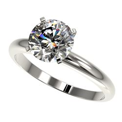 2 ctw Certified Quality Diamond Engagment Ring 10k White Gold - REF-407M8G
