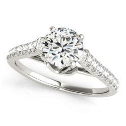 1.25 ctw Certified VS/SI Diamond Ring 18k White Gold - REF-154F8M