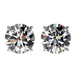 2.03 ctw Certified Quality Diamond Stud Earrings 10k White Gold - REF-256A3N