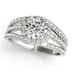 1.25 ctw Certified VS/SI Diamond Ring 18k White Gold - REF-169R2K