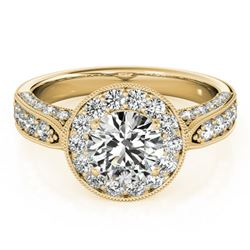 2 ctw Certified VS/SI Diamond Halo Ring 18k Yellow Gold - REF-326X3A
