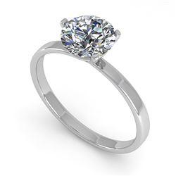 1.0 ctw Certified VS/SI Diamond Engagment Ring Martini 14k White Gold - REF-315M2G