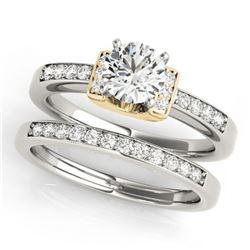 1.26 ctw Certified VS/SI Diamond Solitaire 2pc Set 14k 2Tone Gold - REF-286F4M