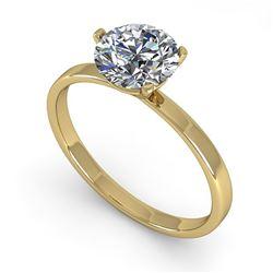 1.0 ctw Certified VS/SI Diamond Engagment Ring Martini 18k Yellow Gold - REF-298G5W