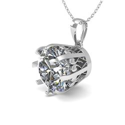 2 ctw VS/SI Diamond Solitaire Necklace Vintage 14k White Gold - REF-921F6M