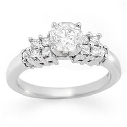1.20 ctw Certified VS/SI Diamond Solitaire Ring 18k White Gold - REF-218X2A