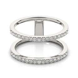 0.9 ctw Certified VS/SI Diamond Fashion Ring 18k White Gold - REF-79A2N