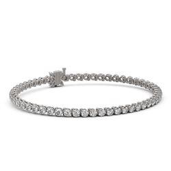 7 ctw Diamond Designer Bracelet 18K White Gold - REF-550G6W