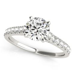 1.45 ctw Certified VS/SI Diamond Ring 18k White Gold - REF-280F5M