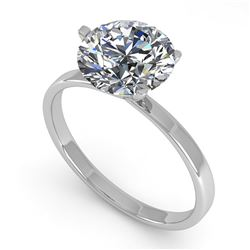 2.01 ctw VS/SI Diamond Engagement Ring Martini 14K White Gold - REF-1020W2H