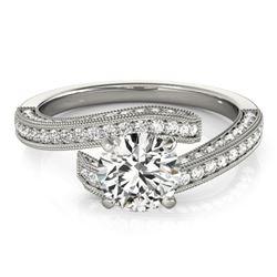 1.5 ctw Certified VS/SI Diamond Bypass Ring 18k White Gold - REF-171N3F