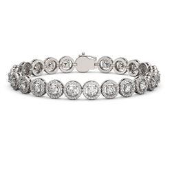 10.39 ctw Diamond Micro Pave Bracelet 18K White Gold - REF-787R8K