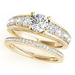 3.25 ctw Certified VS/SI Diamond 2pc Set Wedding 14k Yellow Gold - REF-582N3F