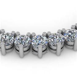 48 ctw 3 Prong Diamond Riviera Necklace 14K White Gold - REF-8795K5Y