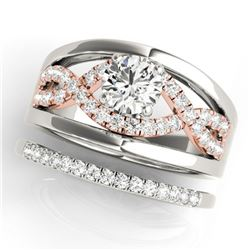 1.79 ctw Certified VS/SI Diamond Solitaire 2pc Set 14k 2Tone Gold - REF-399G3W