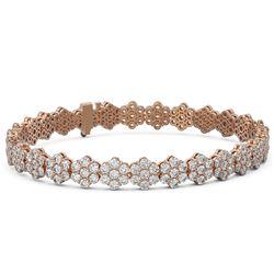 14 ctw Diamond Designer Bracelet 18K Rose Gold - REF-785K2Y