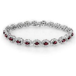 10.80 ctw Ruby & Diamond Bracelet 18k White Gold - REF-372M9G