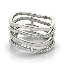 0.55 ctw VS/SI Diamond Fashion Ring 18k White Gold - REF-75N5F