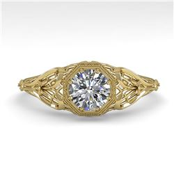 0.50 ctw VS/SI Diamond Engagment Ring Art Deco 18k Yellow Gold - REF-104W8H