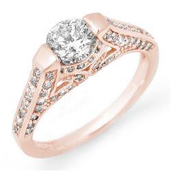 1.42 ctw Certified VS/SI Diamond Ring 14k Rose Gold - REF-205M3G