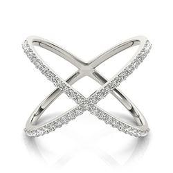 0.55 ctw VS/SI Diamond Fashion Ring 18k White Gold - REF-60F8M