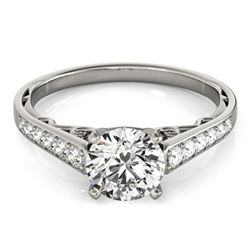 0.85 ctw Certified VS/SI Diamond Ring 18k White Gold - REF-94H3R