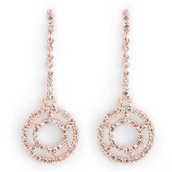 1.0 ctw Certified VS/SI Diamond Earrings 14k Rose Gold - REF-109R3K