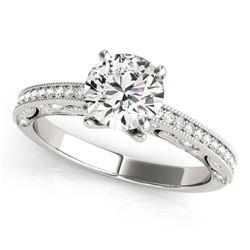 0.75 ctw Certified VS/SI Diamond Antique Ring 18k White Gold - REF-97M4G