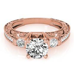 1.15 ctw Certified VS/SI Diamond Antique Ring 18k Rose Gold - REF-168G4W