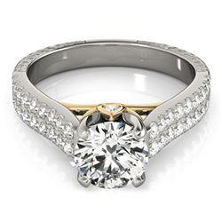 2.11 ctw Certified VS/SI Diamond Pave Ring 18k 2Tone Gold - REF-572F8M