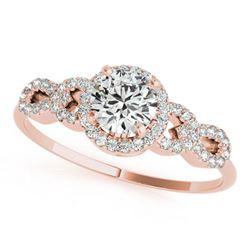 1.08 ctw Certified VS/SI Diamond Ring 18k Rose Gold - REF-144N8F