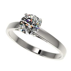 0.97 ctw Certified Quality Diamond Engagment Ring 10k White Gold - REF-139H2R