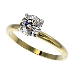 1.05 ctw Certified Quality Diamond Engagment Ring 10k Yellow Gold - REF-141H3R