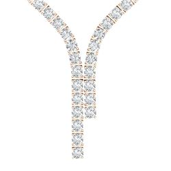 40 ctw Certified SI Diamond Necklace 18K Rose Gold - REF-4350H2R
