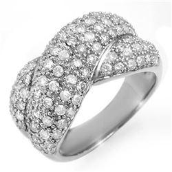 2.05 ctw Certified VS/SI Diamond Ring 18k White Gold - REF-172W8H