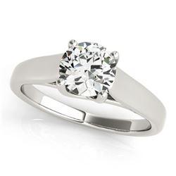 0.5 ctw Certified VS/SI Diamond Ring 18k White Gold - REF-78N8F