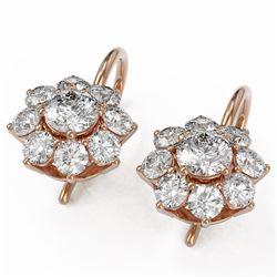 1.82 ctw Diamond Designer Earrings 18K Rose Gold - REF-132N8F